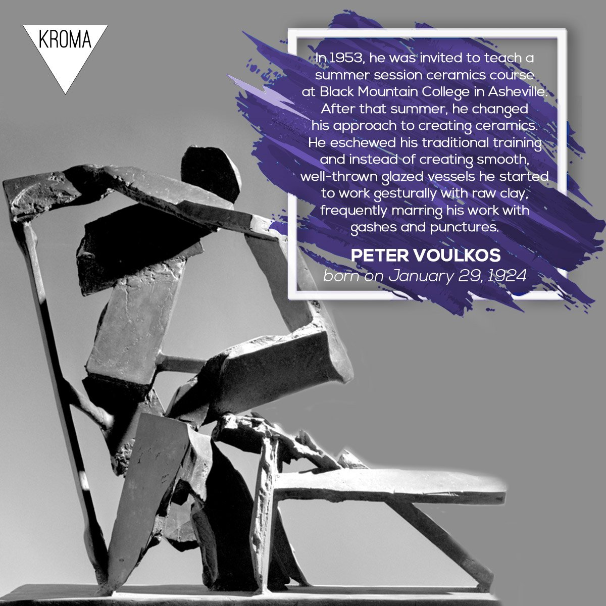 Kroma Art Magazine On Twitter 29 1 Born Today Petervoulkos Was An American Artist Of Greek Descent Known For His Abstract Expressionist Ceramic Sculptures Which Crossed The Traditional Divide Between Ceramic Crafts