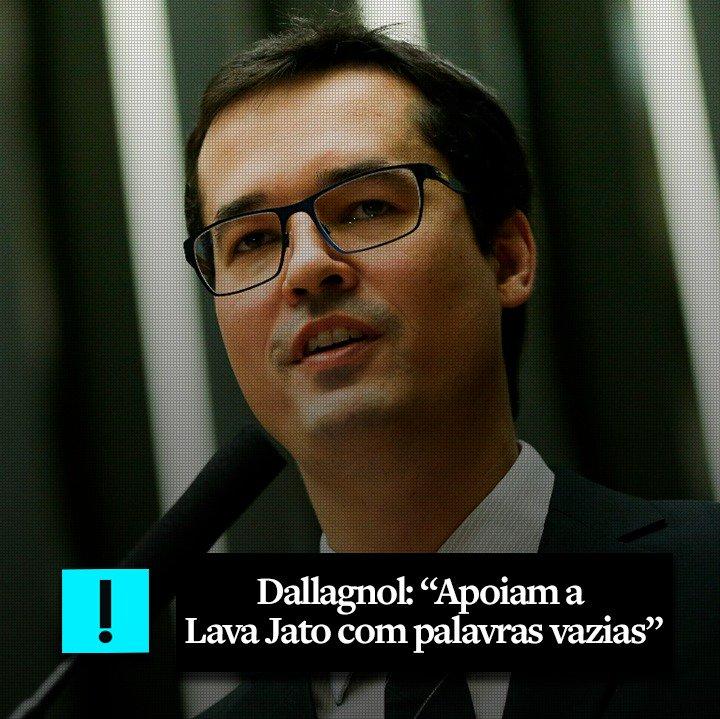 "Deltan Dallagnol: ""Apoiam a Lava Jato com palavras vazias."" https://t.co/S43eVVLQQr"