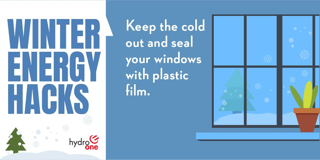 """Hydro one on twitter: """"keep the cold out by sealing your windows."""