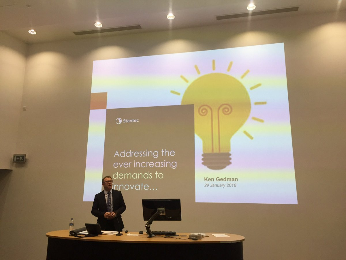 "attending @apmnwbranch_ event this evening on ""adressing the ever inscreasing demands to innovate..."" by Keith Gedman hosted by @LJMU"