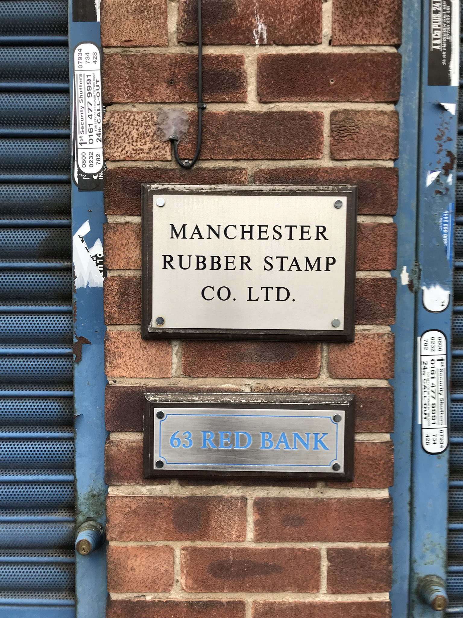 Tom Clarke A Twitter Good To Revisit The Manchester Rubber Stamp Company