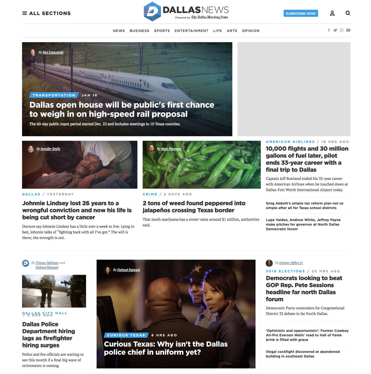 dallas morning news on twitter new year new home page what do yall think of the changes httpstcoy2bz50nd32