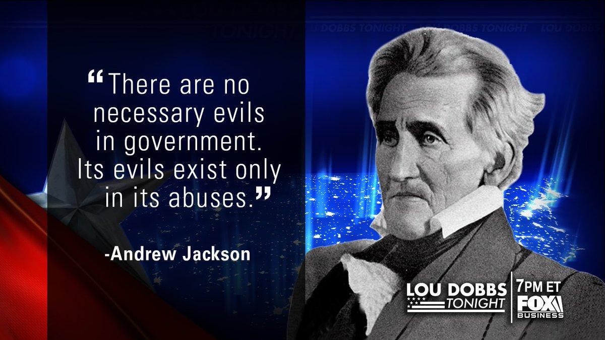 Tonight's #QuoteofTheDay from Andrew Jackson. #MAGA #TrumpTrain #Dobbs