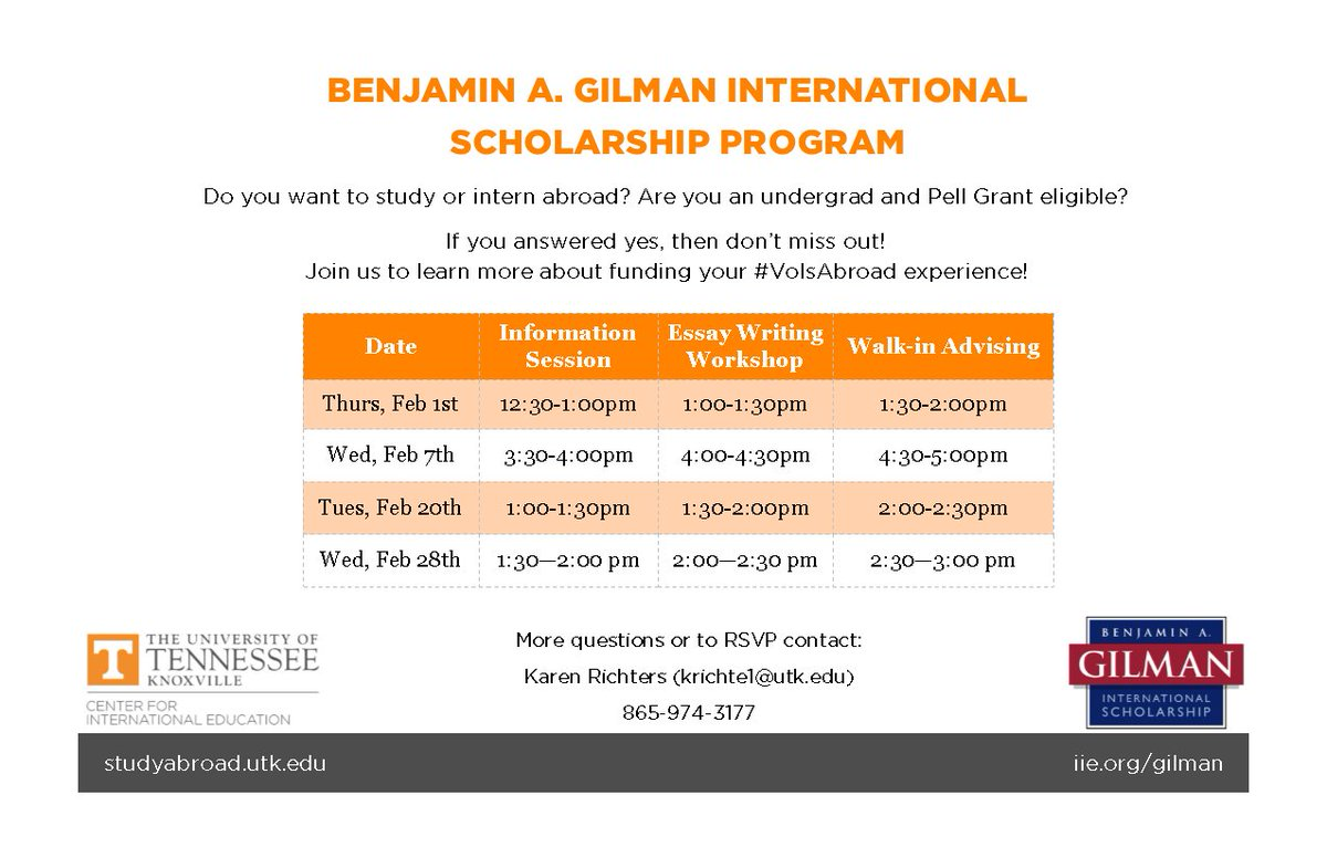 Utk Programs Abroad On Twitter Want To Study Abroad Pell Eligible