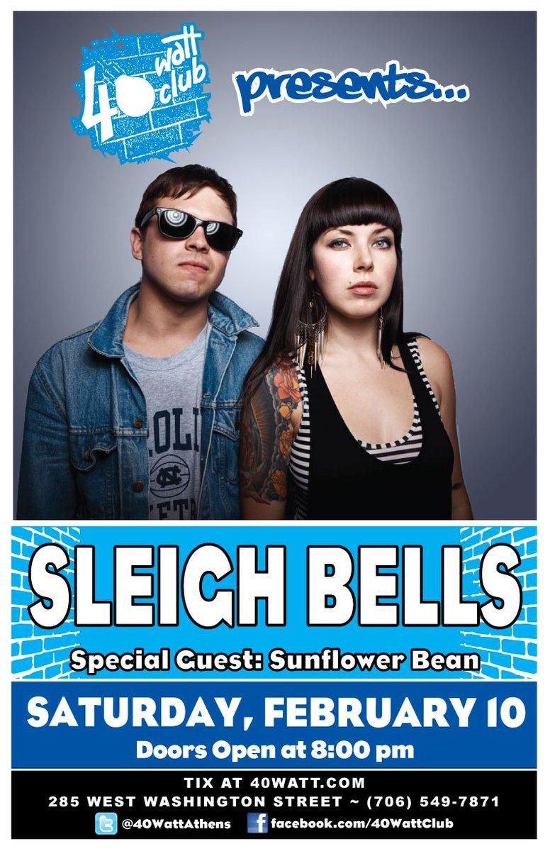 40 Watt Club ? Twitter  Saturday Feb 10 Sleigh Bells - Sunflower Bean Tix on sale now //t.co/Jbo6XwkEXe All Ages. Doors 800 @sleighbells ...  sc 1 st  Twitter & 40 Watt Club ? Twitter: