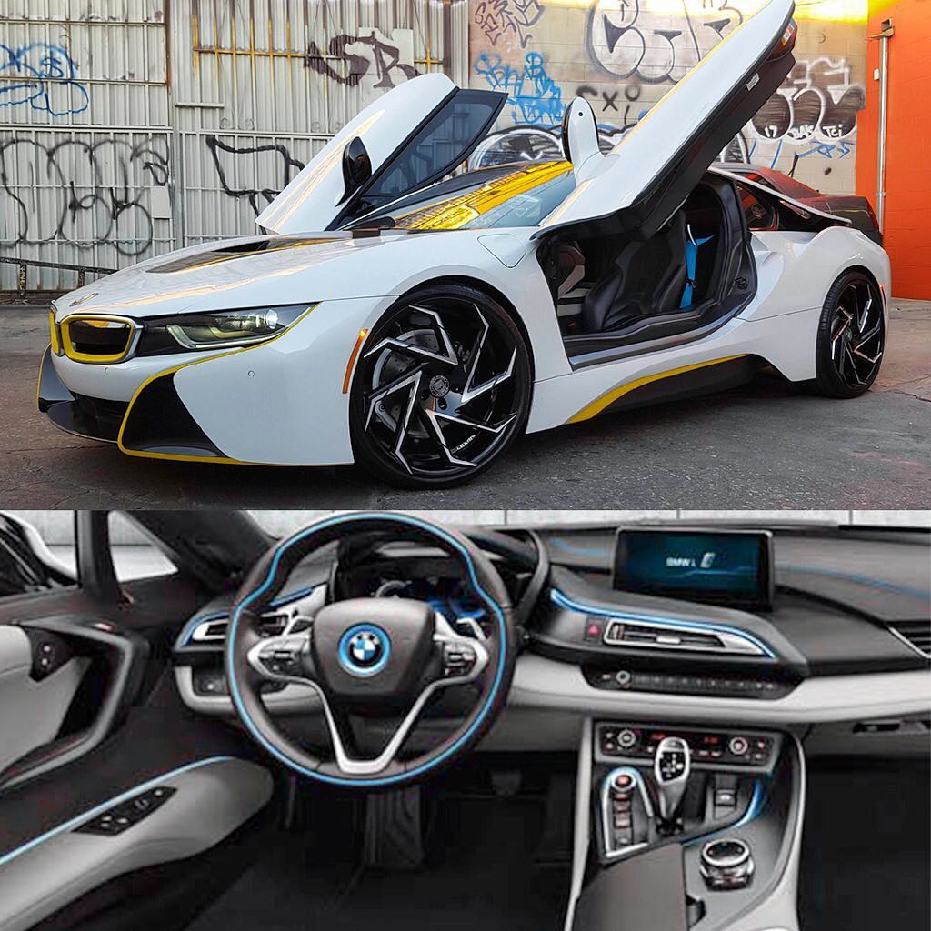 Lexani Wheels On Twitter Bmw I8 In 22 Cyclone Black With Machine