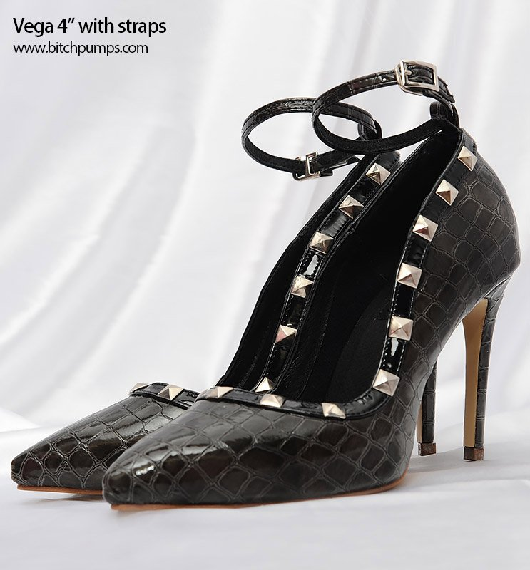 4' Vega Heels (with Strap) #fashionshoes...