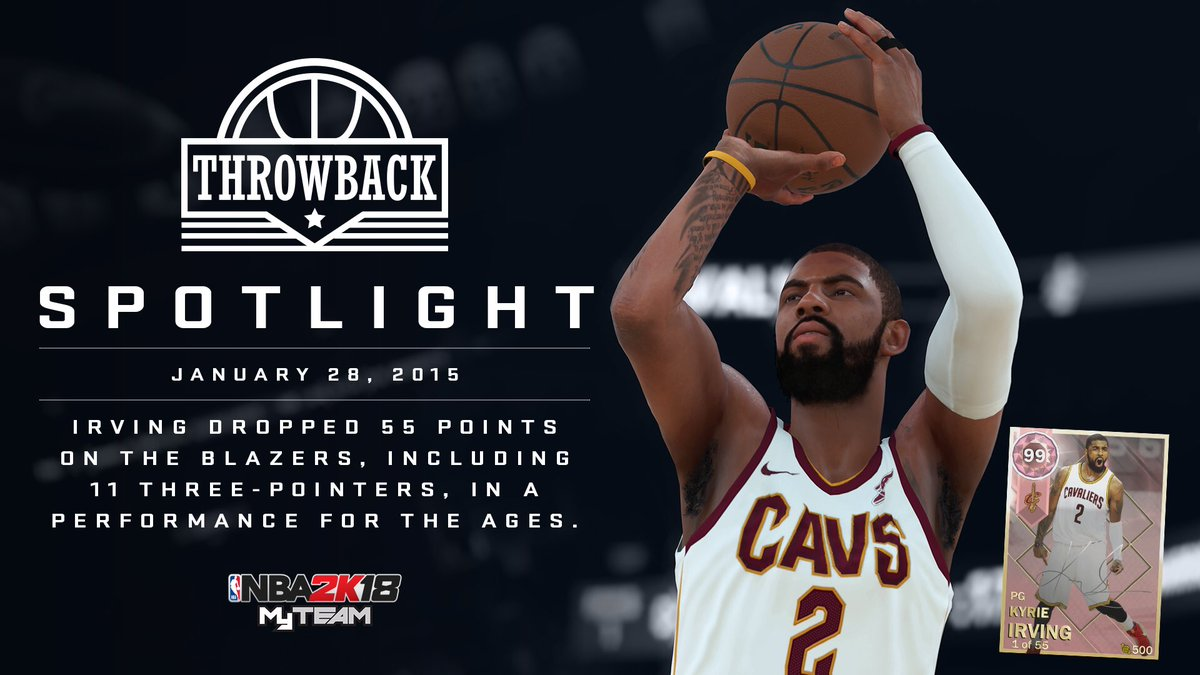 Nba 2k19 Myteam On Twitter To Celebrate Kyrieirving S 55 Point