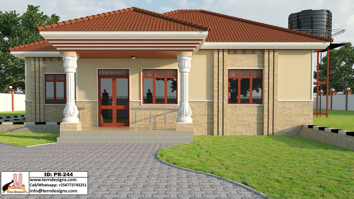 Tern Designs Ltd On Twitter A Simple 3 Bedroom House Design Suitable For A Relatively Small Budget Check Here Https T Co Bxxdqtcjbp Call Whatsapp 256773743251 Https T Co Nmiwgi60ru