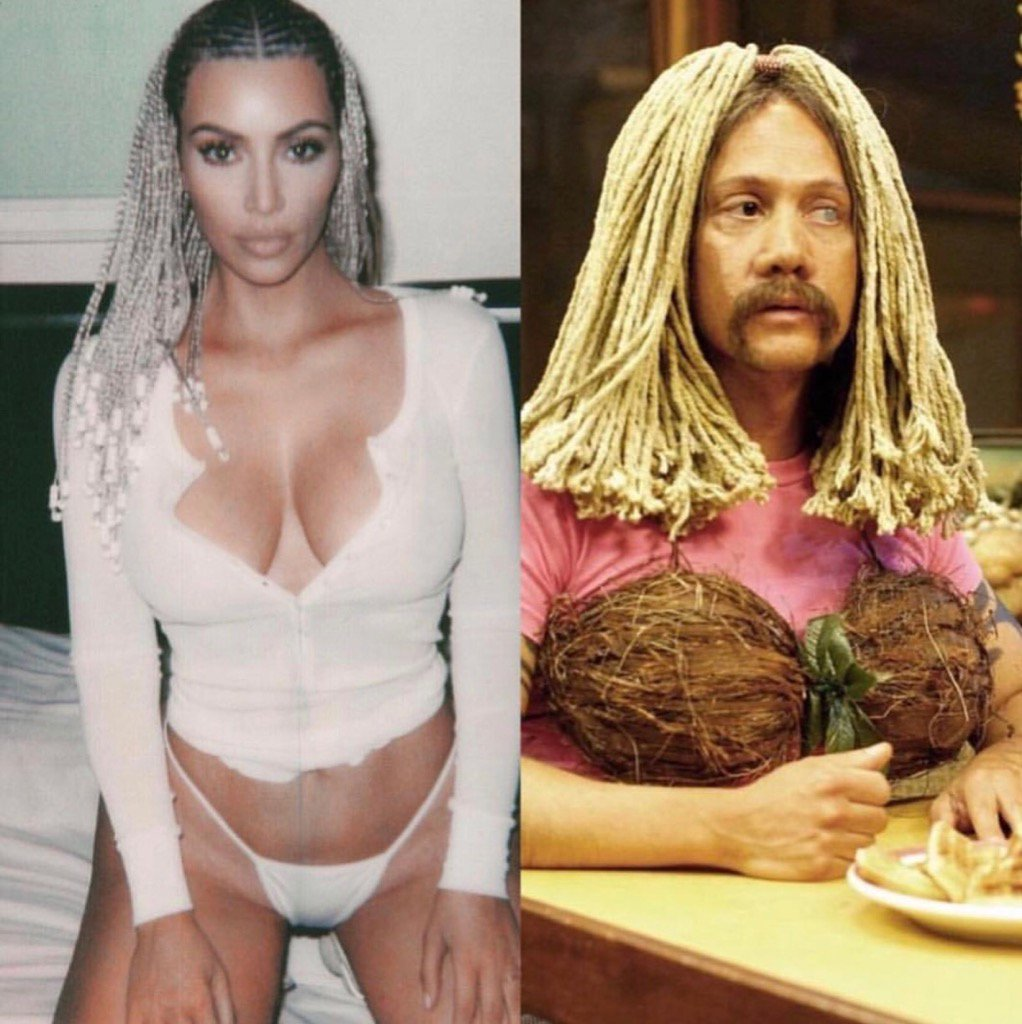 Who wore it better? #RealRob or #Real @KimKardashian #netflix