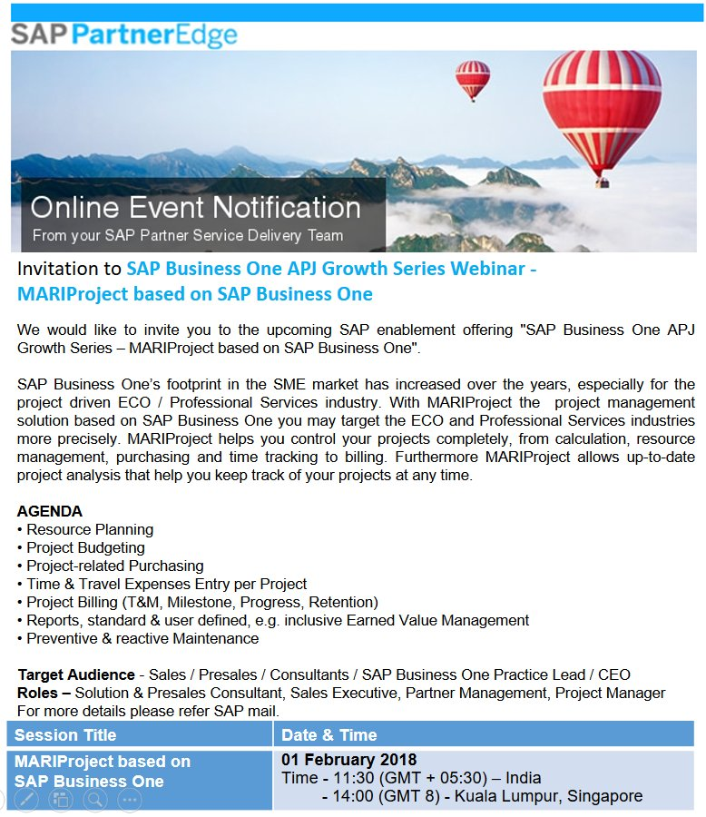 Anil B Marali MLE On Twitter Register Attend SAP Partner
