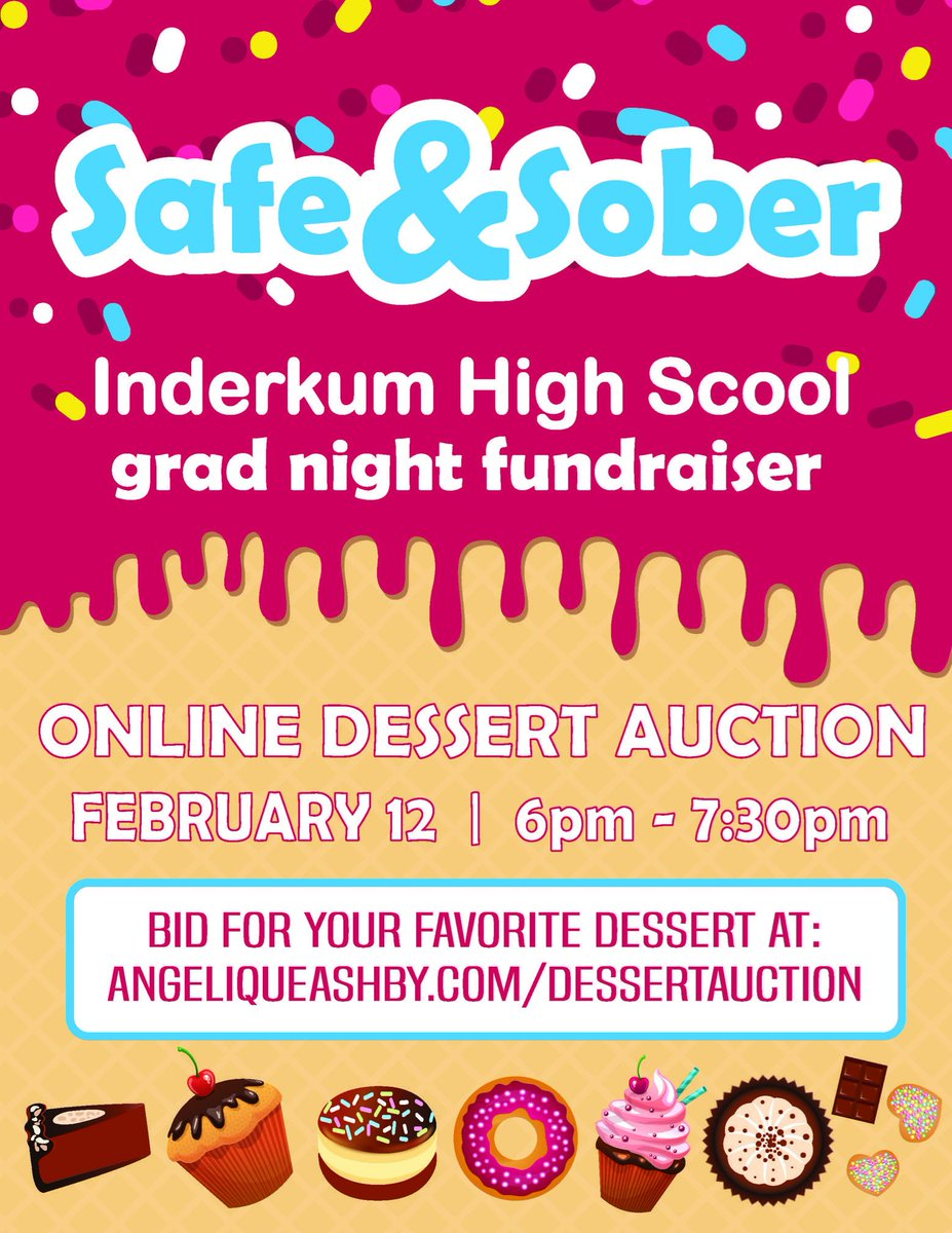 Attention Youth Action Corps: Do you enjoy baking? Have your baked goods featured in an online auction! Two weeks from today, YAC is having its annual fundraiser for Inderkum's Safe and Sober Grad Night~ Lets get baking D1! 🍴🎂 https://t.co/47yqjS1i1w