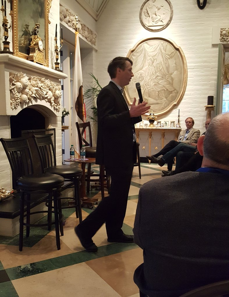Trifecta: @RichLowry follows @AndrewCMcCarthy and @VDHanson at a spectacular @NR_Institute event in Fresno.