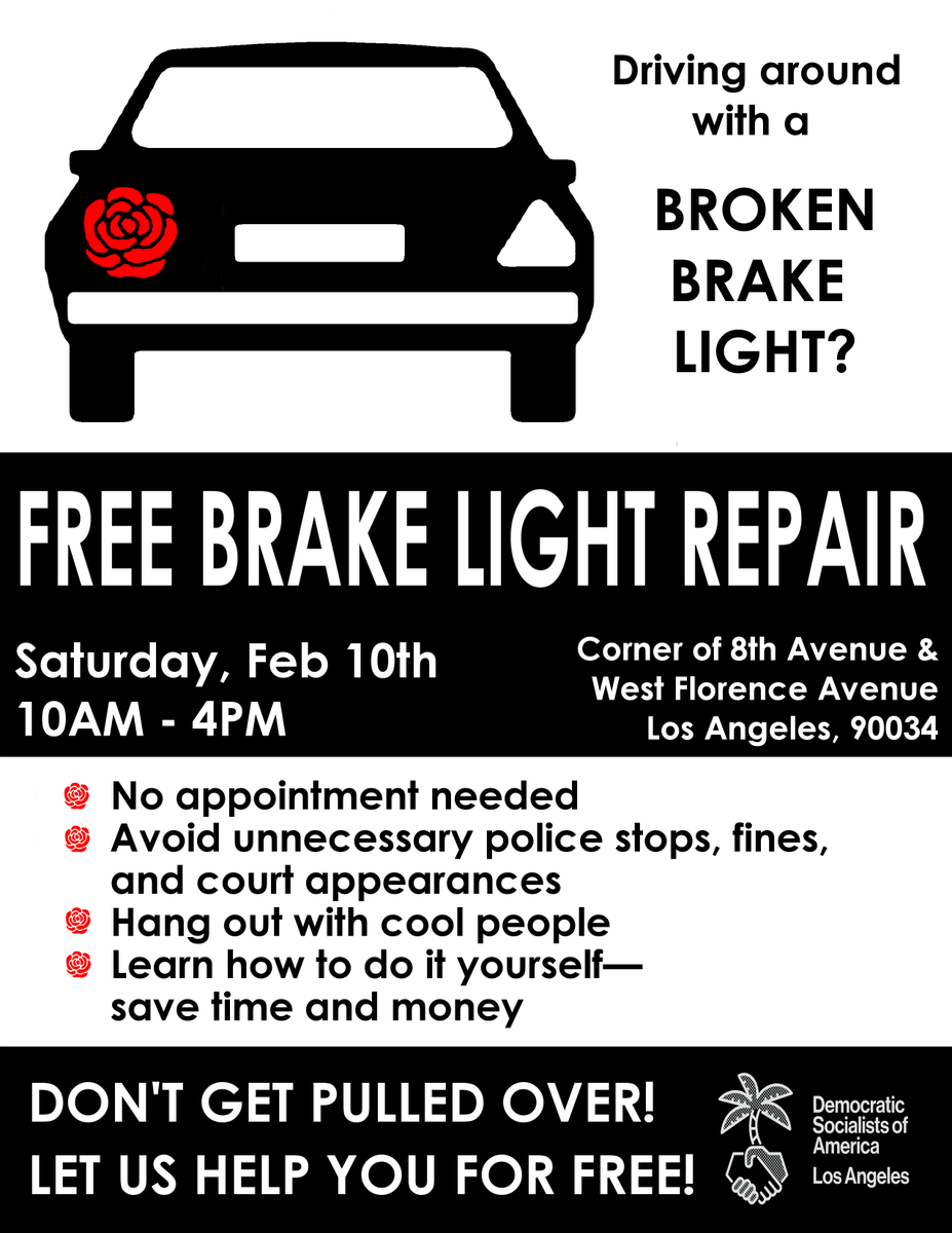 Lovely #LosAngeles: Get Your Brake Lights Fixed For FREE + Know Your Rights! Our  Staff Attorney @DevonEPorter Will Be On Hand To Talk About Your Rights When  ... Ideas