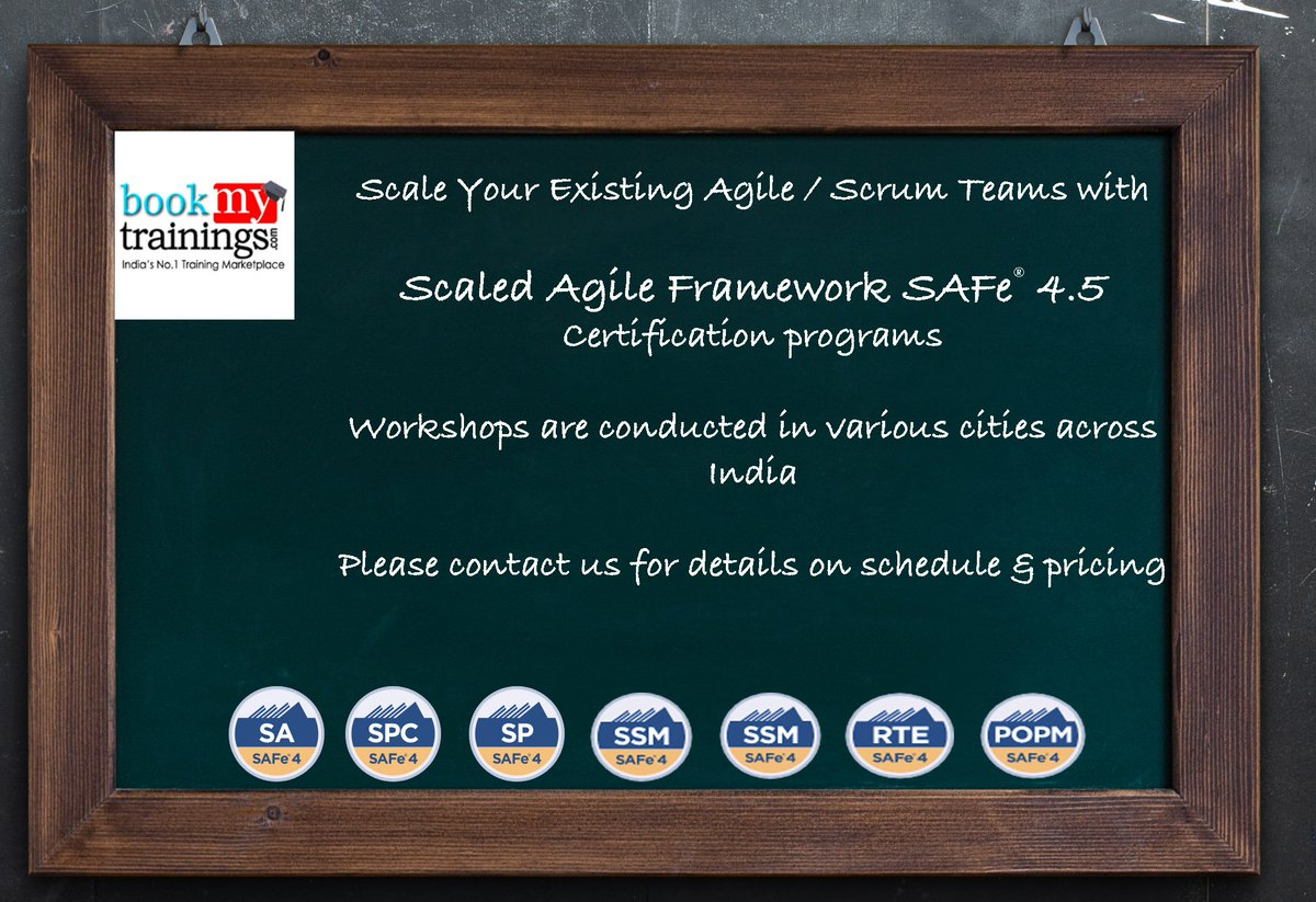 Mitch Dudani On Twitter Rt Bookmytrainings Scaled Agile