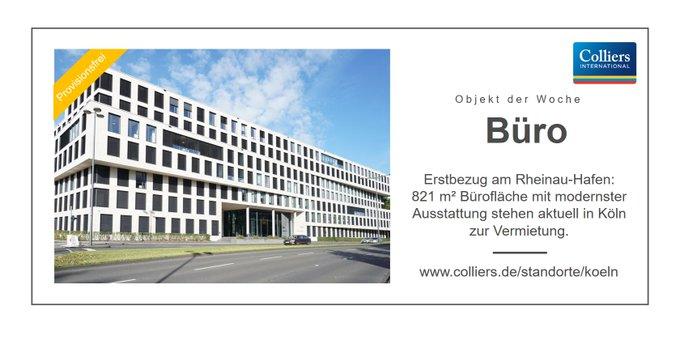 Objekt der Woche: Köln<br>Erstbezug - aktuell stehen am Rheinau-Hafen 821 m² Bürofläche mit modernster Ausstattung provisionsfrei zur Vermietung. Alle Infos zum Objekt gibts hier:  t.co/bNhjWVgvEu