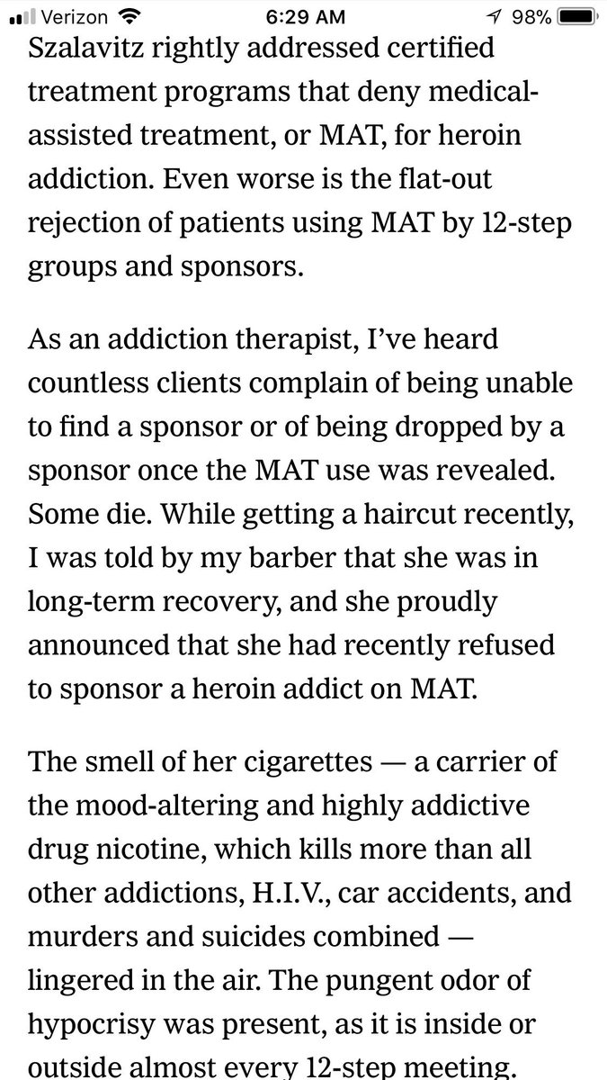 sarah wakeman letter to the editor in response to maiasz must read article in nytimes about effective treatment for opioid addiction