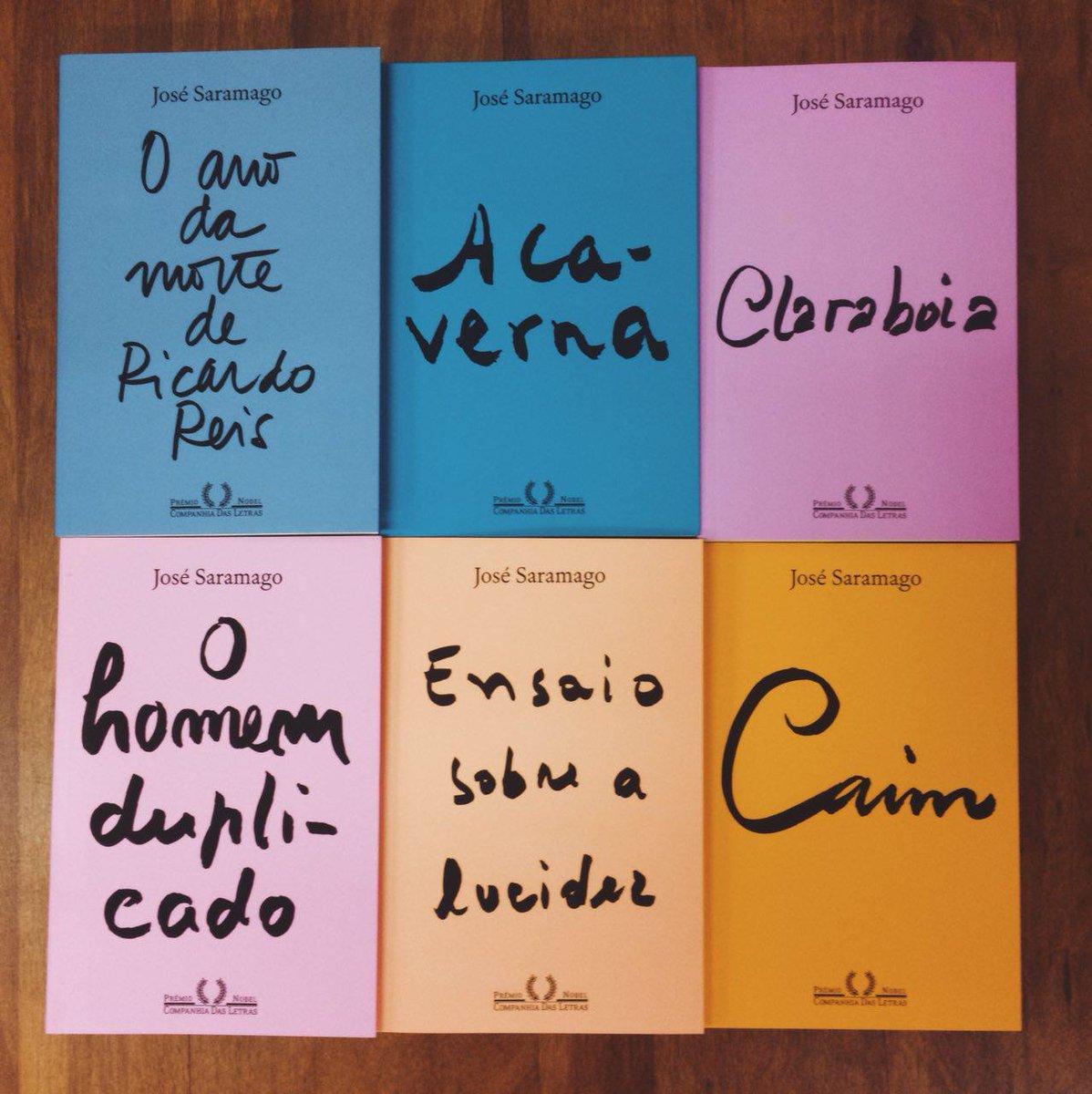 """Companhia das Letras on Twitter: """"Conheça a coleção José Saramago exclusiva  da @Saraiva, inspirada no projeto gráfico da Porto Editora, de Portugal.  https://t.co/QQFWbAVD82… https://t.co/0q6yqaMImq"""""""