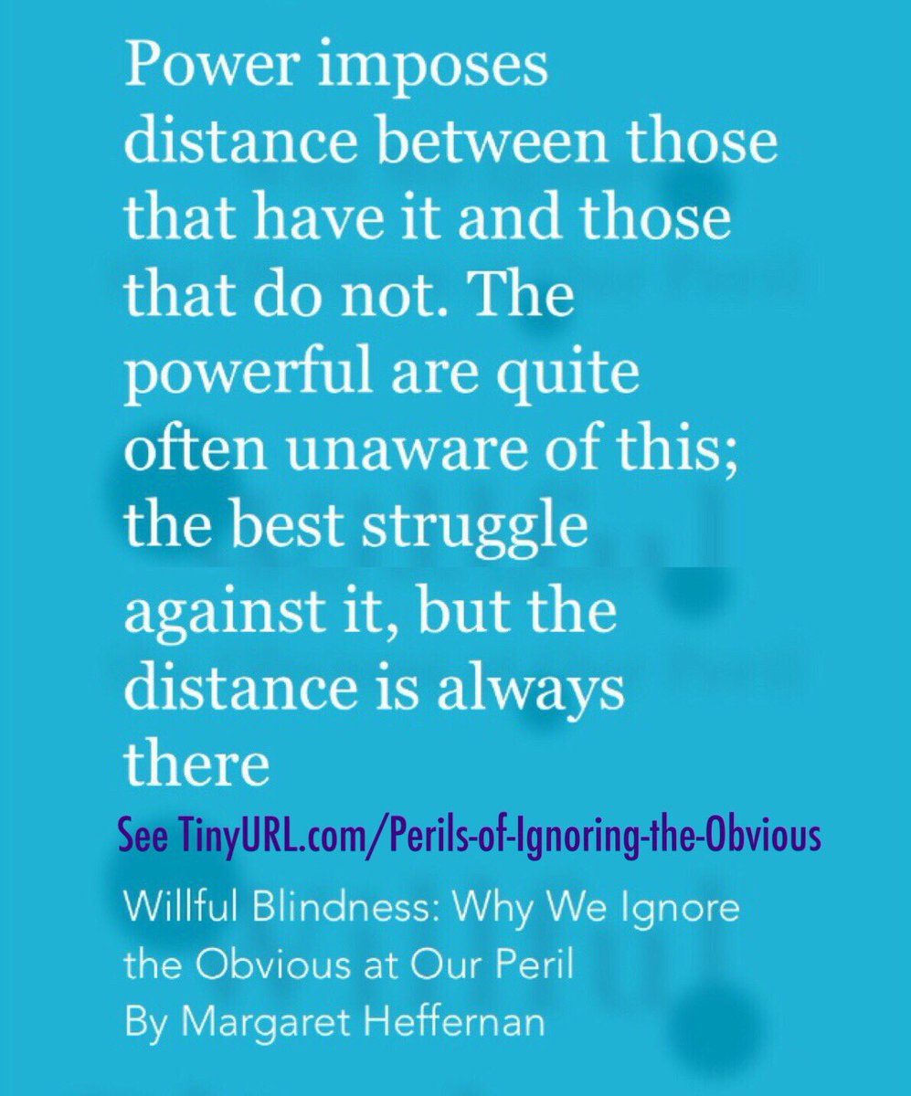 wilful blindness why we ignore the obvious
