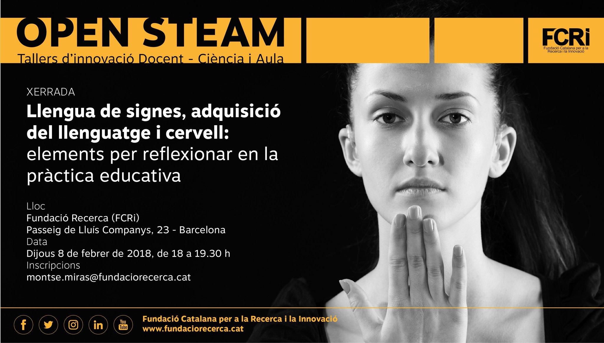 Llengua de signes, adquisició del llenguatge i cervell: elements per reflexionar en la pràctica educativa - Barcelona 8 feb.'18 DUzImv1W4AAwMQj