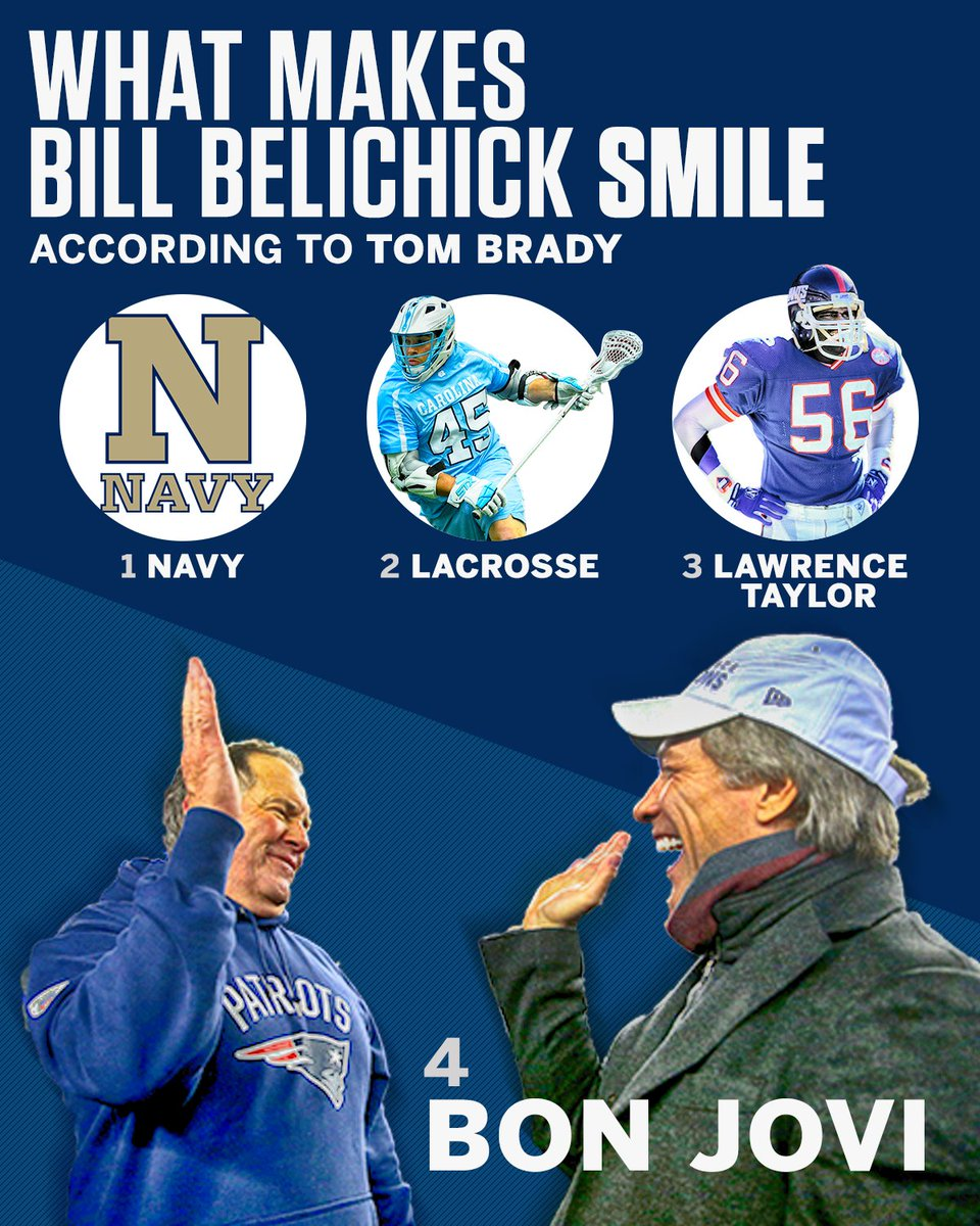 If you want to make Bill Belichick smile, just talk about one of these four things.