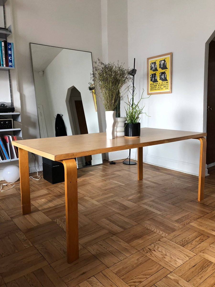 H On Twitter NYC Peeps Selling My Alvar Aalto Model Table - Ebay conference table