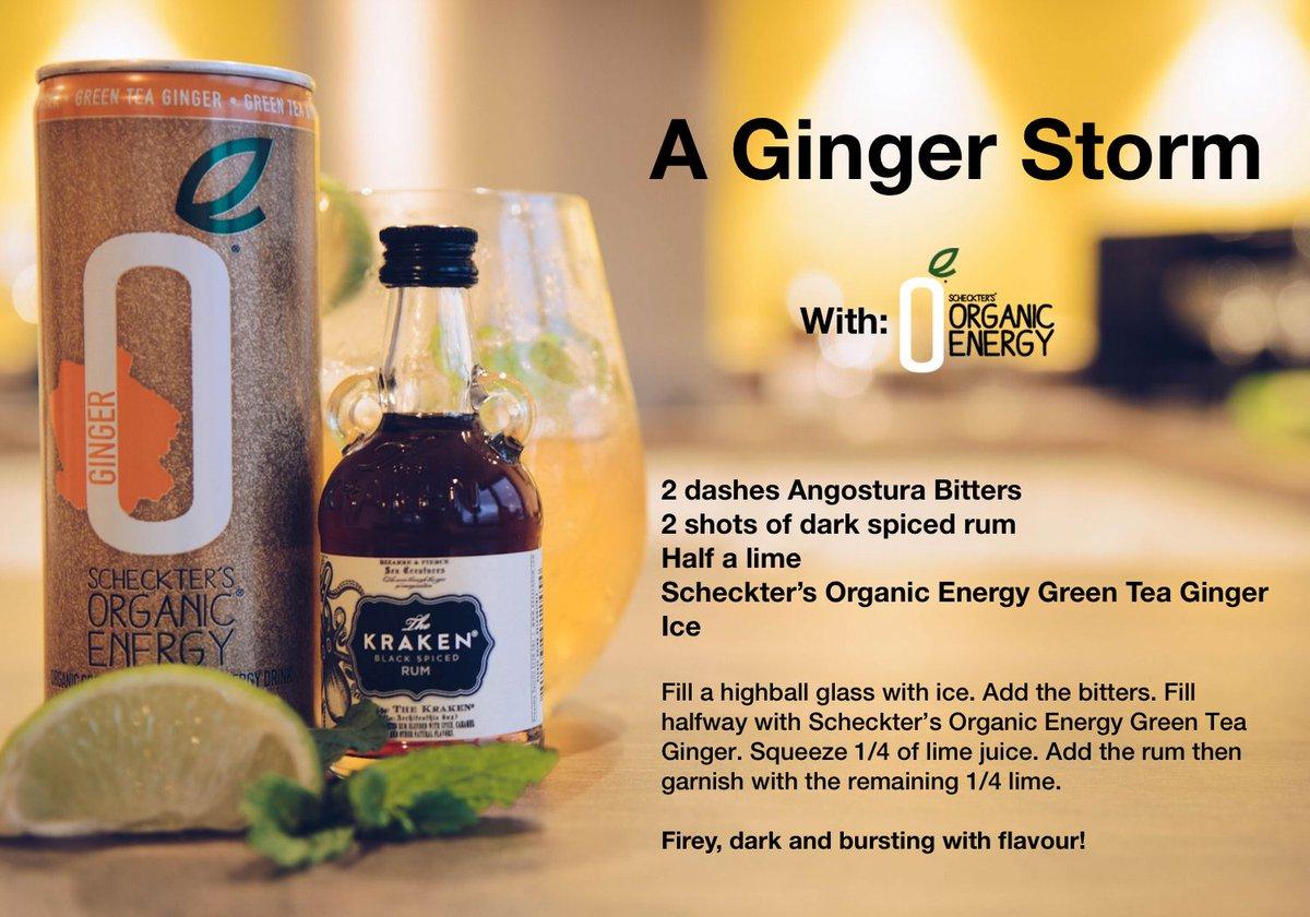 Whip up a storm with @ScheckterEnergy Organic Energy 'Ginger + Green Tea' #vegetarian #ginger https://t.co/KoTRx6XfXm