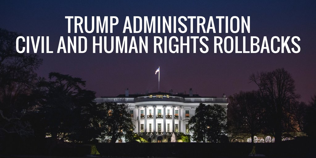 In its first year, the Trump admin launched an across-the-board assault on our nation's civil and human rights. This is why we must all continue organizing to fight for the kind of country we deserve.  Timeline of Trump rollbacks: https://civilrights.org/trump-rollbacks/…