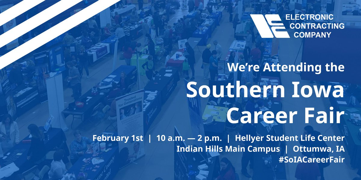 We're attending the Southern Iowa Career Fair this Thursday! Come to @indianhills' Hellyer Student Life Center and get started on a career in commercial technology! #SoIACareerFair <br>http://pic.twitter.com/VSrIdkmW6U