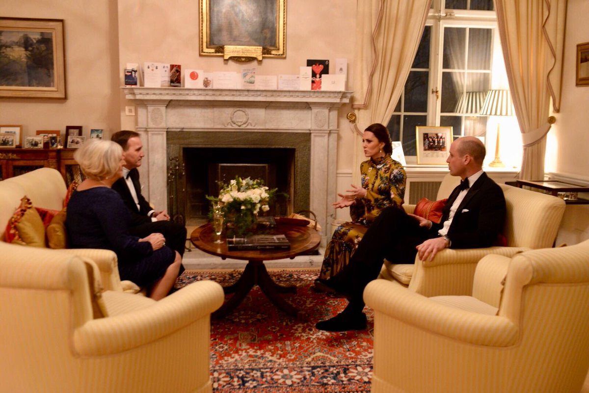 Kensington Palace On Twitter The Duke And Ss Meet Swedish Prime Minister Stefan Löfven His Wife Ulla At Residence Of British