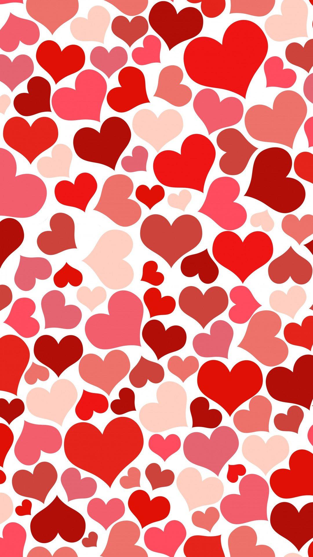 Картинка с сердечками на а4, открыткой