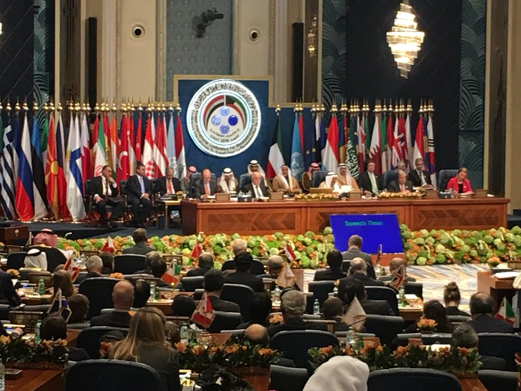#EU's Mogherini says finalizing 400m euros in humanitarian and stabilization actions at #Iraq reconstruction conference. Says that's in addition to EU member state individual contributions.