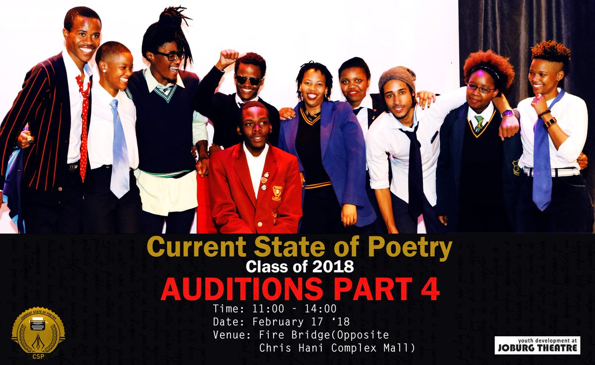 """currentstateofpoetry on twitter: """"head up! #csp #class'18 auditions"""