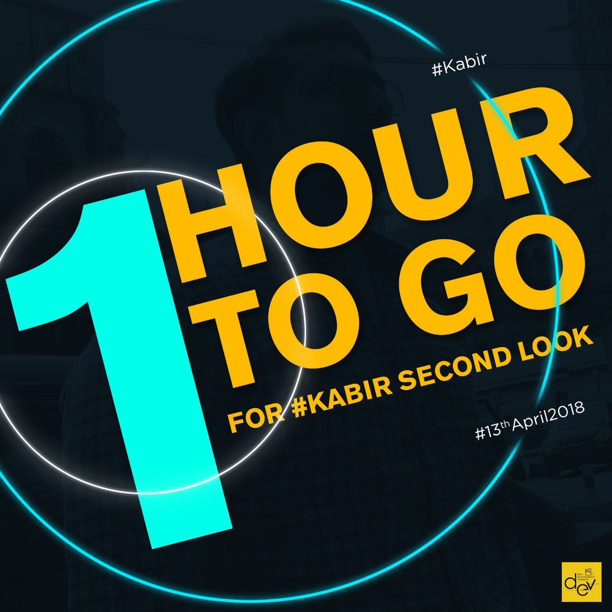 Just 1 hour to go. Keep eyes on our Social Media Pages for the Exclusive #KABIR 2nd Look.  @idevadhikari, @RukminiMaitra, @aniket9163, @iindraadip, @DEV_PvtLtd.  #PeaceHasAPrice #April2018.
