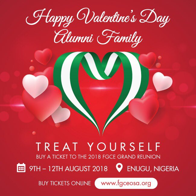Greater love had no man: than to lay down his life for his friends John 15:13 Happy Val's Day friends. Oh, BTW have you bought your ticket to the #fgcereunion2018 best gift for you and that special someone #backtoourroots #osetigo #homecoming #enugu2018