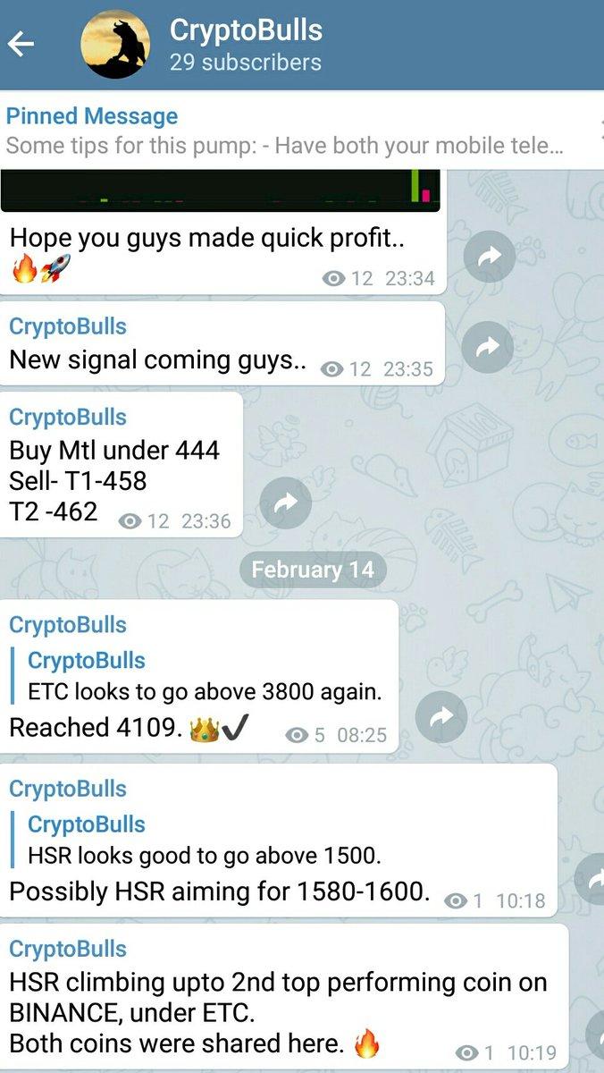 signal cryptocurrency telegram