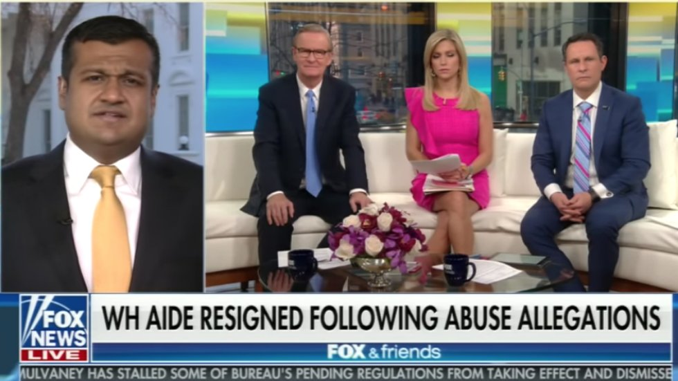 'Fox & Friends' host goes off on White House spokesman: You hired a 'two-time accused domestic abuser' https://t.co/MCFPww4ML7