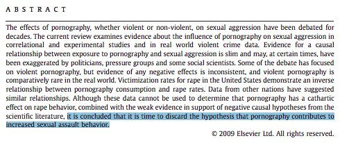 an analysis of the correlation between pornography and violence