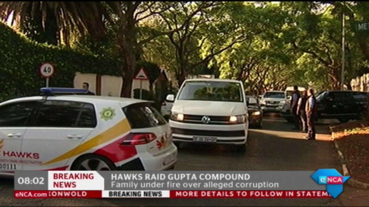 [ICYMI] Hawks confirm this mornings raid on the #Gupta compound https://t.co/lGCAo6uyNY