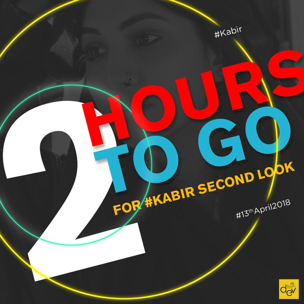 Just 2 hours to go. Keep eyes on our Social Media Pages for the Exclusive #KABIR 2nd Look.  @idevadhikari, @RukminiMaitra, @aniket9163, @iindraadip, @DEV_PvtLtd.  #PeaceHasAPrice #April2018.