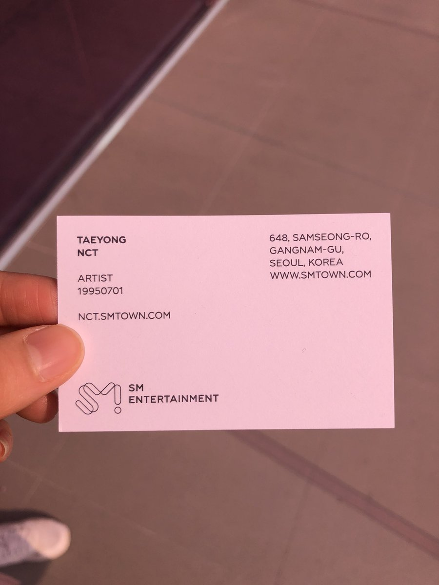 Nct127regularirregular on twitter taeyongs artist business card nct127regularirregular on twitter taeyongs artist business card from sm new visual identity exhibition httpstsfiz899xug reheart Images