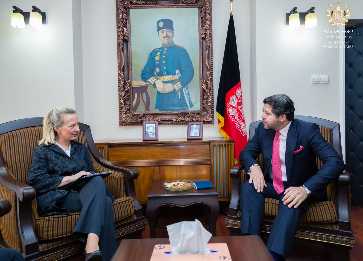 Extensive discussions ranging from regional issues to the Kabul Process to internal developments with HE Alice G. Wells, Principal Deputy Assistant Secretary, Department of State.