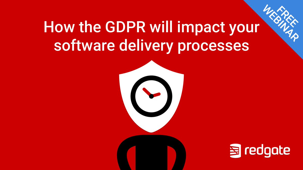 Redgate on twitter webinar alert join us tomorrow at 11am gmt tomorrow at 11am gmt to learn how the gdpr will impact your software delivery processes or register to get a copy of the recording httprd2ewh2nx biocorpaavc