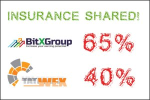 Image for Tatwex and Bitxgroup Trade Insurance has shared!