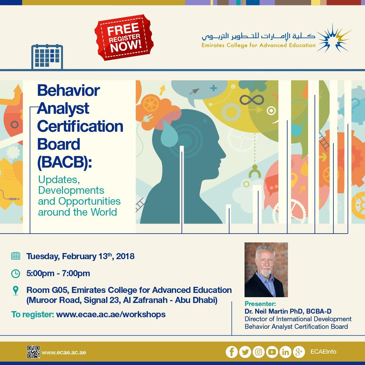 Ecae On Twitter Ecae Organizes A Free Workshop Titled Behavior