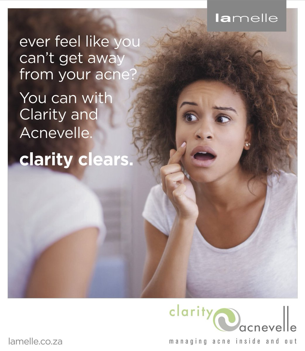 You don't have to worry about #Monday blues or acne with Clarity. Ask your skincare specialist about Clarity by Lamelle. #ClarityClears