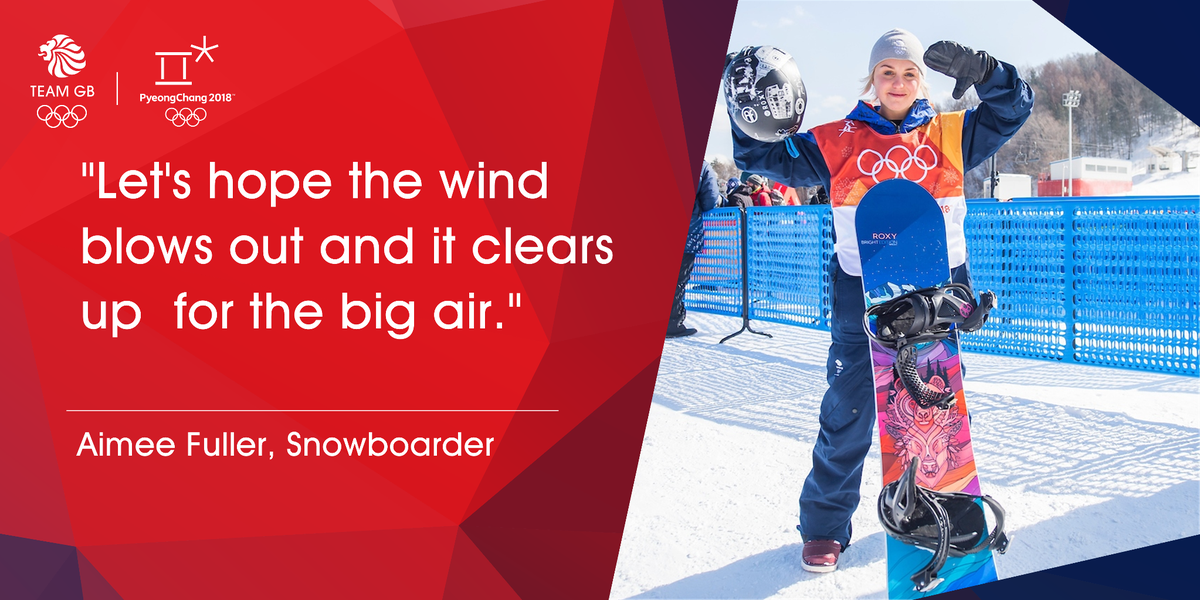 Difficult day for @aimee_fuller in the slopestyle due to the 💨 but thoughts move onto big air next week 👌  #WeAreTheGreat