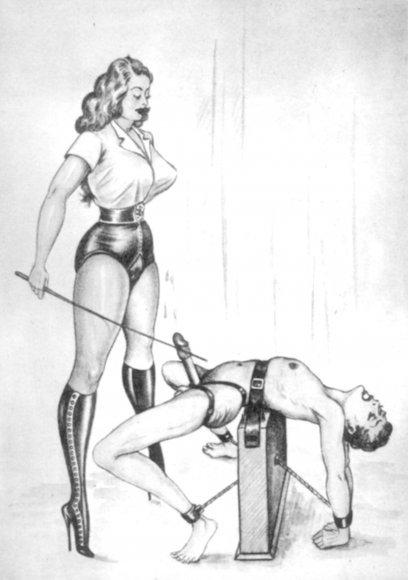 Femdom drawings of female domination #6