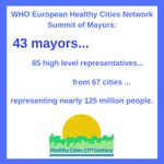 Starting today, #Copenhagen will host 43 mayors and 85 high-level representatives to discuss the future of #HealthyCities. This group represents nearly 125 million people from Paraguay to the Russian Federation! #SDG11