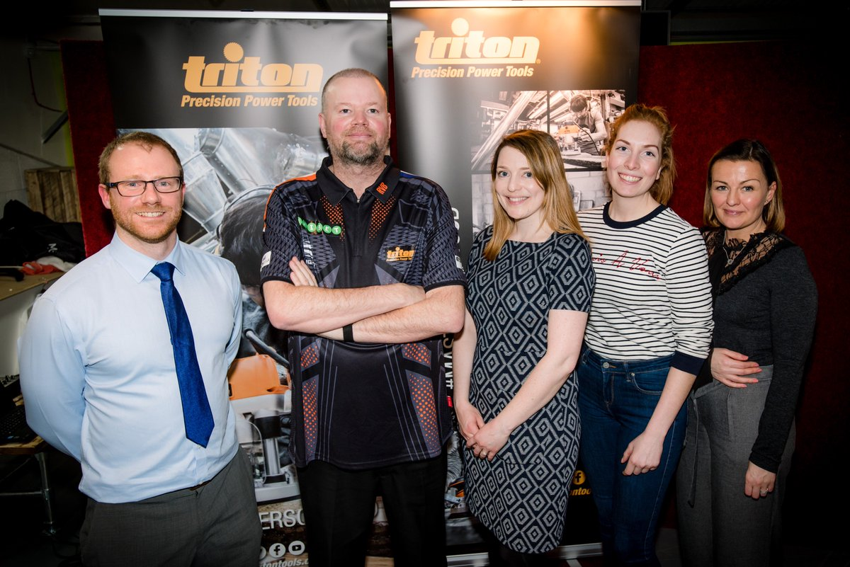 Excited to activate our new sports sponsorship with @Triton_Tools_UK and five times world darts champion @Raybar180 bit.ly/2BoanId